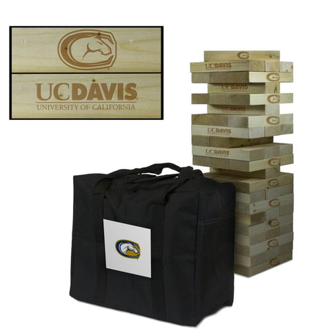 UC Davis Giant Wooden Tumble Tower with Aggies carry case