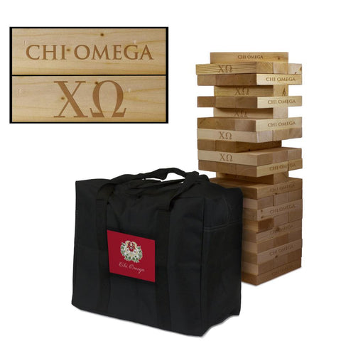 Chi Omega Giant Jenga Tumble Tower Game