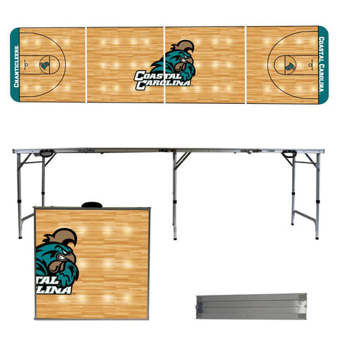 The Coastal Carolina Chanticleers Basketball Court Version Portable Tailgating and Cup Game Table