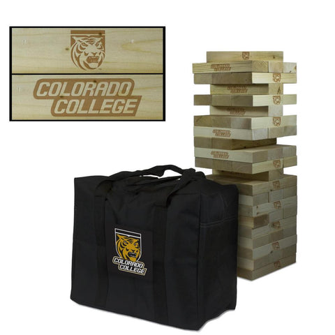 Colorado College Tigers Giant Tumble Tower with Tigers carry case