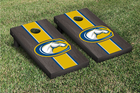 California University of Davis Aggies Onyx Stained Stripe Version Cornhole Set Victory Tailgate 23708