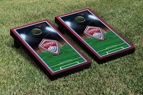 Colorado Rapids CRSC Cornhole Game Set Soccer Field Version 1 - Victory Tailgate 25097