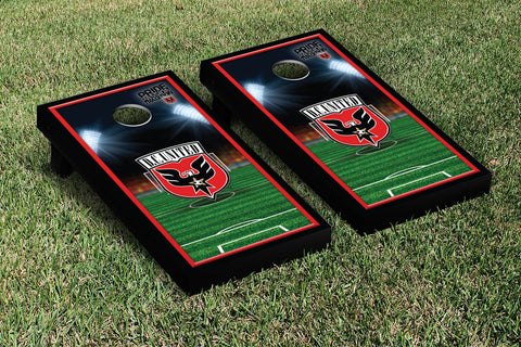 DC United DCU Cornhole Game Set Soccer Field Version 1 - Victory Tailgate 25108