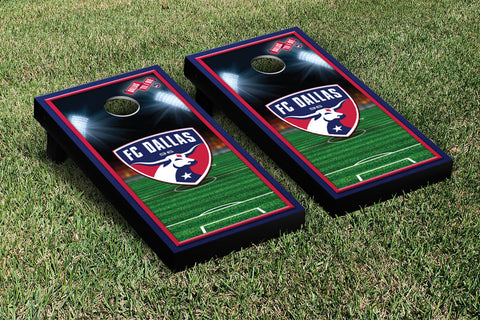 FC Dallas FCDSC Cornhole Game Set Soccer Field Version 1 - Victory Tailgate 25116