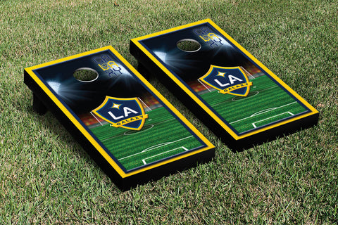 Los Angeles LA Galaxy LAGSC Cornhole Game Set Soccer Field Version 1 - Victory Tailgate 25144