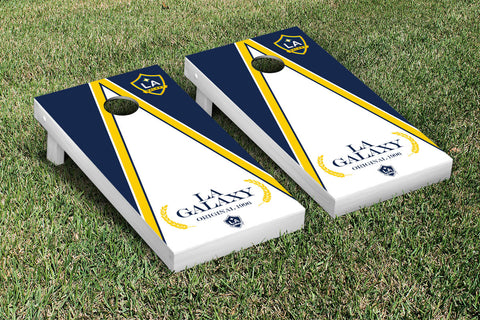 Los Angeles LA Galaxy LAGSC Cornhole Game Set Triangle Version - Victory Tailgate 25146