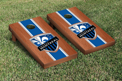 Montreal Impact MISC Rosewood Stained Stripe Version Cornhole Set Victory Tailgate 25155