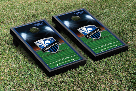 Montreal Impact MISC Cornhole Game Set Soccer Field Version 1 - Victory Tailgate 25156