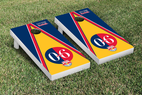 New York RBNY Cornhole Game Set Triangle Version - Victory Tailgate 25174
