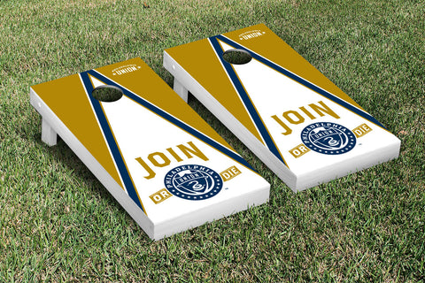 Philadelphia Union Zolos Cornhole Game Set Triangle Version - Victory Tailgate 25182