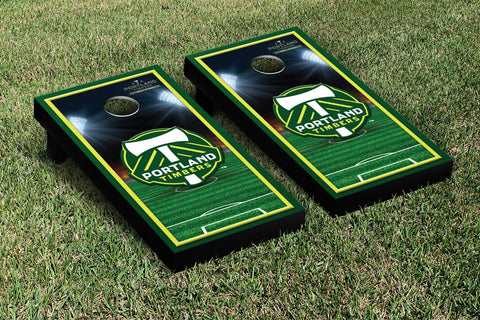 Portland Timbers Cornhole Game Set Soccer Field Version 1 - Victory Tailgate 25185