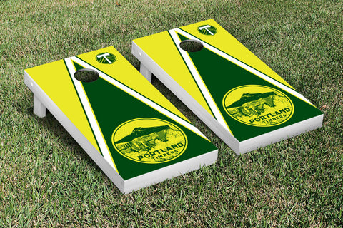 Portland Timbers Cornhole Game Set Triangle Version - Victory Tailgate 25187