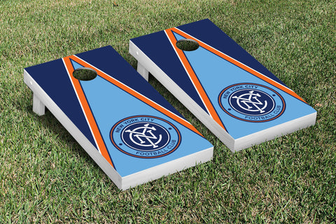 New York City FC Cornhole Game Set Triangle  Version - Victory Tailgate 25196