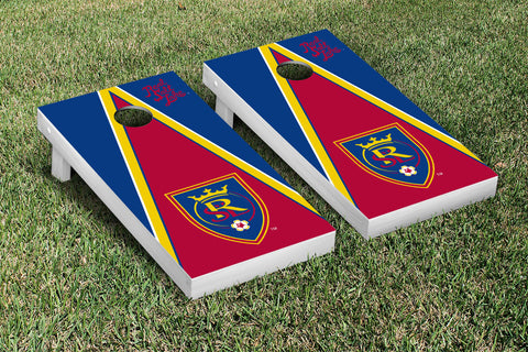 Real Salt Lake RSL Royals Cornhole Game Set Triangle Version - Victory Tailgate 25204