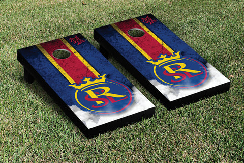 Real Salt Lake RSL Royals Cornhole Game Set Vintage Version - Victory Tailgate 25205