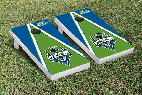 Seattle Sounders FC Rave Green Cornhole Game Set Triangle Version - Victory Tailgate 25223