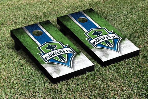 Seattle Sounders FC Rave Green Cornhole Game Set Vintage Version - Victory Tailgate 25224