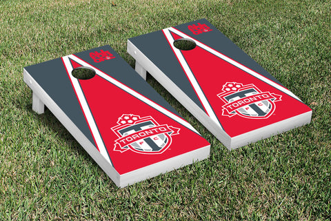Toronto FC TFC Reds Cornhole Game Set Triangle Version - Victory Tailgate 25240