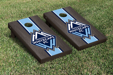 Vancouver Whitecaps FC Caps Onyx Stained Stripe Version Cornhole Set Victory Tailgate 25246