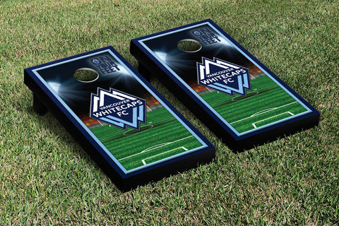 Vancouver Whitecaps FC Caps Cornhole Game Set Soccer Field Version 1 - Victory Tailgate 25247