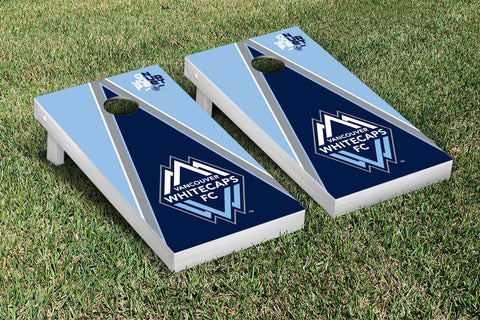 Vancouver Whitecaps FC Caps Cornhole Game Set Triangle Version - Victory Tailgate 25249