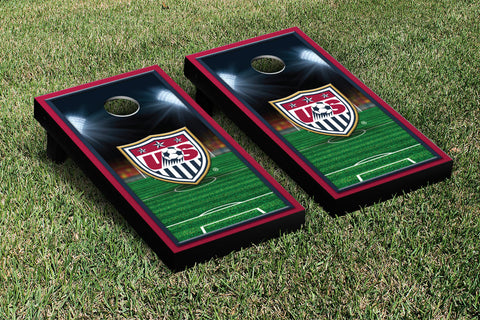 US Soccer USSF Cornhole Game Set Soccer Field Version 1 - Victory Tailgate 26014
