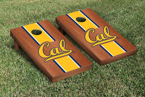 UC Berkeley Golden Bears Rosewood Stained Stripe Version Cornhole Set Victory Tailgate 26683