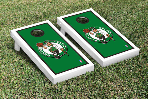 Boston Celtics NBA Cornhole Game Set Border Version - Victory Tailgate 28516
