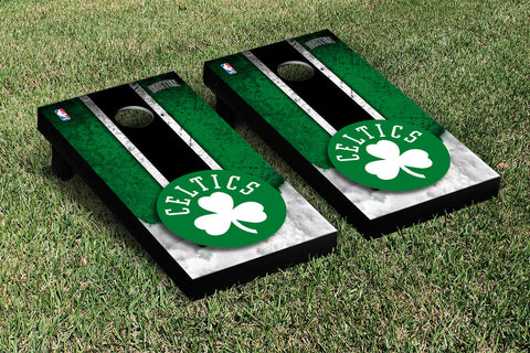 Boston Celtics NBA Cornhole Game Set Vintage Version - Victory Tailgate 28519