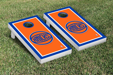 New York Knicks NBA Cornhole Game Set Border Version - Victory Tailgate 28549