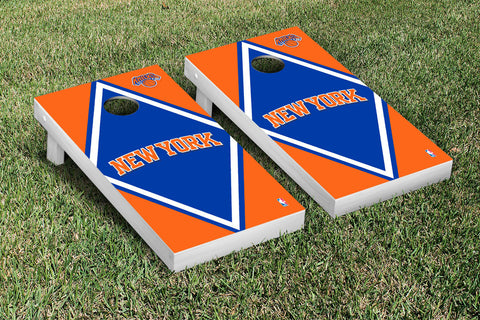 New York Knicks NBA Cornhole Game Set Diamond Version - Victory Tailgate 28550