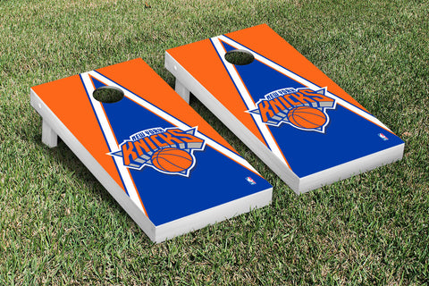 New York Knicks NBA Cornhole Game Set Triangle Version - Victory Tailgate 28551