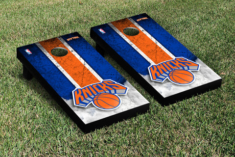 New York Knicks NBA Cornhole Game Set Vintage Version - Victory Tailgate 28552