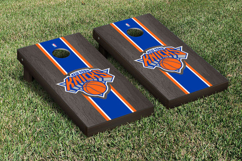 New York Knicks NBA Onyx Stained Stripe Version Cornhole Set Victory Tailgate 28554