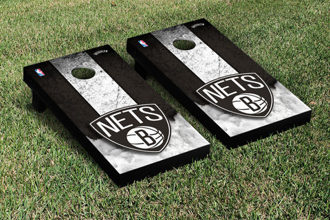Brooklyn Nets NBA Cornhole Game Set Vintage Version - Victory Tailgate 28563