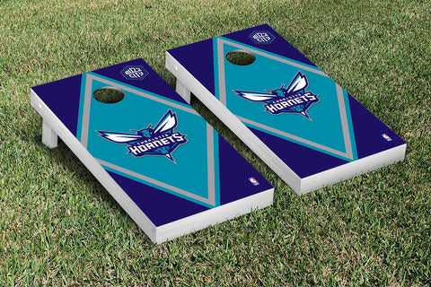 Charlotte Hornets Cornhole Game Set Diamond Version - Victory Tailgate 28568