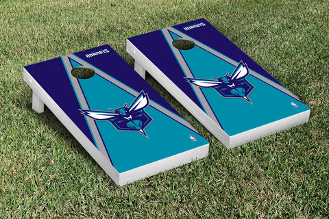 Charlotte Hornets Cornhole Game Set Triangle Version - Victory Tailgate 28569
