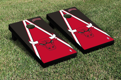 Chicago Bulls Cornhole Game Set Triangle Version - Victory Tailgate 28582