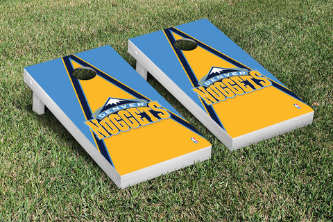 Denver Nuggets Cornhole Game Set Triangle Version - Victory Tailgate 28623