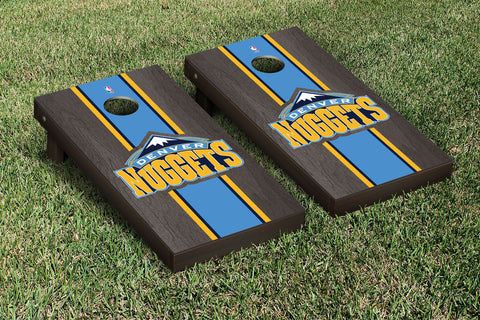 Denver Nuggets Onyx Stained Stripe Version Cornhole Set Victory Tailgate 28626
