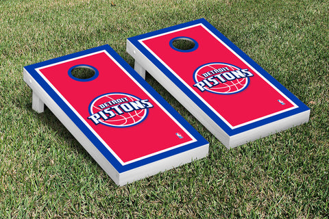 Detroit Pistons Cornhole Game Set Border Version - Victory Tailgate 28634