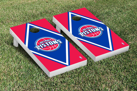 Detroit Pistons Cornhole Game Set Diamond Version - Victory Tailgate 28635