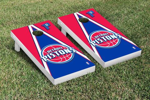 Detroit Pistons Cornhole Game Set Triangle Version - Victory Tailgate 28636