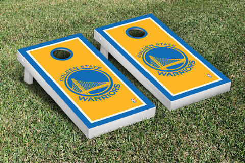 Golden State Warriors Cornhole Game Set Border Version - Victory Tailgate 28649
