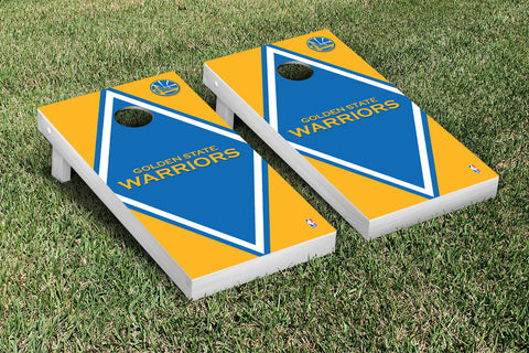 Golden State Warriors Cornhole Game Set Diamond Version - Victory Tailgate 28650