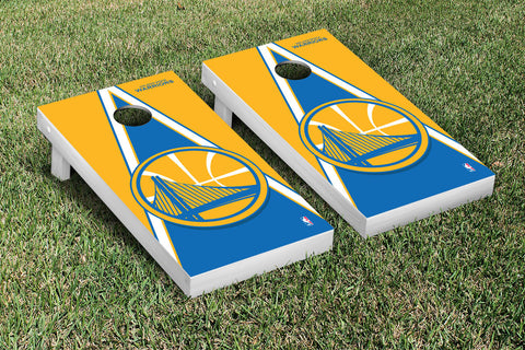 Golden State Warriors Cornhole Game Set Triangle Version - Victory Tailgate 28651
