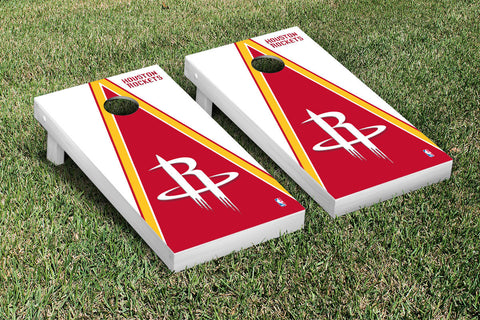 Houston Rockets Cornhole Game Set Triangle Version - Victory Tailgate 28665