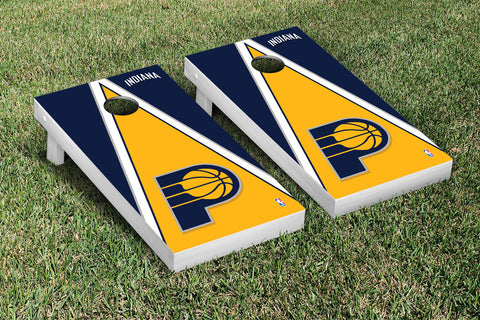 Indiana Pacers Cornhole Game Set Triangle Version - Victory Tailgate 28678