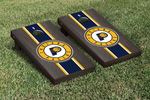 Indiana Pacers Onyx Stained Stripe Version Cornhole Set Victory Tailgate 28681