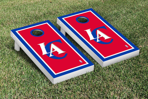 Los Angeles Clippers Cornhole Game Set Border Version - Victory Tailgate 28689